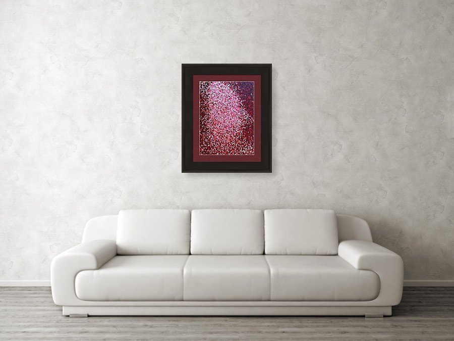 Soft Red Framed Print Dean Triolo by Dean Triolo
